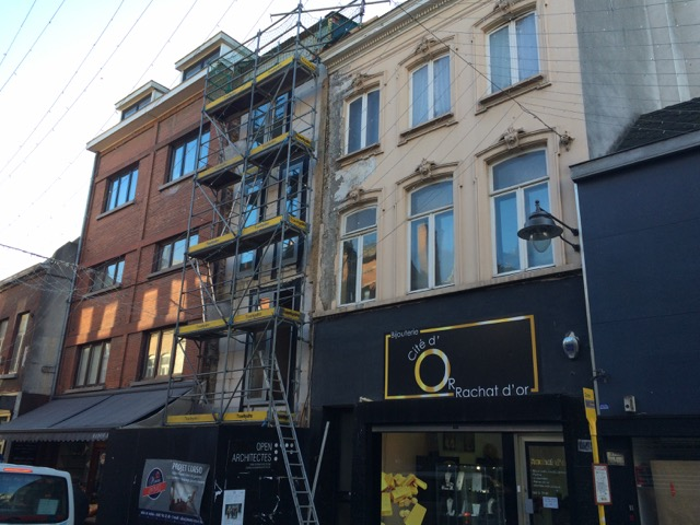 Modern residential complex in old cinema this autumn in Mons ...